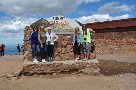 At the top of Pike's Peak - Elevation of 14,115 ft.