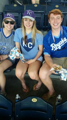 My first Royals game! I went with my cousins, aunt and uncle and grandparents for K-State Day at the K!