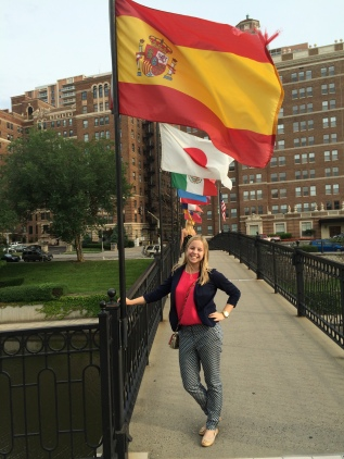 The Spanish flag flying in Kansas City, MO - a sister city to Sevilla