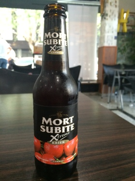 The delicious Mort Subite beer - They also have a raspberry flavor