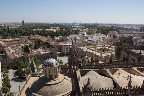 A view of Sevilla from the top of La Gerald